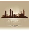 Atlanta Georgia skyline city silhouette vector image vector image