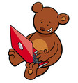 bear with notebook cartoon vector image vector image