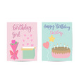 birthday and presents background for greeting vector image