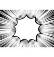 black-white contrast background rays arranged vector image vector image