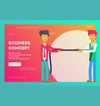 businessman pulling rope in business concept vector image