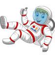cartoon astronaut giving thumbs up vector image vector image