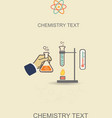 Chemistry infographic poster vector image vector image