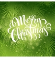 Christmas fir tree texture with greetings vector image