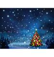 christmas tree winter vector image