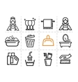 cleaning icons vector image vector image
