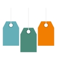 Color price tags icon flat style vector image