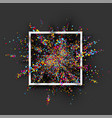 colour paint explosion on grey vector image vector image
