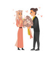 couple in love at valentine s day vector image