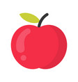 cute apple fruit isolated colorful icon vector image