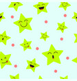cute star emoji seamless pattern background vector image vector image