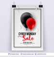 cyber monday sale background with air balloons vector image vector image
