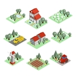 Detailed of a Isometric Farm vector image vector image