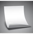 Empty Paper Sheet vector image vector image
