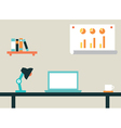 Flat of workspace interior for network vector image vector image