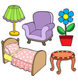 furniture collection 1 vector image vector image
