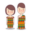 ghana couple traditional national clothes of vector image vector image