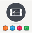 gps street navigation icon smartphone sign vector image