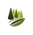green trees or eco nature forest icon vector image vector image