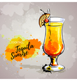 Hand drawn cocktail tequila vector image