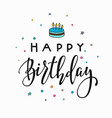 Happy birthday party lettering typography vector image