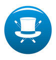 hat with a stick icon blue vector image