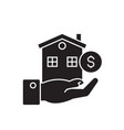 home loan black concept icon home loan vector image
