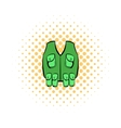 Hunter vest icon comics style vector image