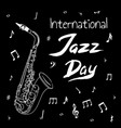 international jazz day vector image vector image