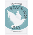 International Peace Day Poster vector image vector image