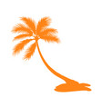 isolated palm tree silhouette vector image vector image