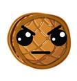 kawaii cute angry waffles with honey vector image vector image
