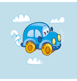 kiddy toy car in the sky vector image vector image