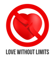 Love without limits vector image vector image