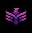 luxury phoenix logo concept phoenix logo vector image vector image