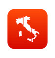 map of italy icon digital red vector image vector image