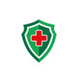 medical shield health guard protection logo icon vector image