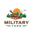 military tank logo design vector image vector image