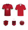 mockup africa football jersey concept for vector image vector image