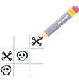 naughts and crosses vector image vector image