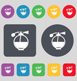 Perfume icon sign A set of 12 colored buttons Flat vector image