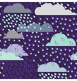 Rainy seamless pattern with clouds pattern vector image vector image