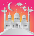 ramadan kareem background angel musical trumpet vector image vector image