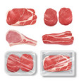realistic meat cow chicken pork steak grill food