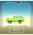 retro bus with surf boards vector image