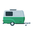 retro caravan trailer mobile home for summer vector image