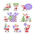 santa claus collection cartoon style vector image vector image