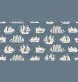 seamless background with various sailing vector image