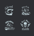 set of retro vintage logotypes vector image