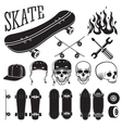 set of skateboarding designer elements vector image